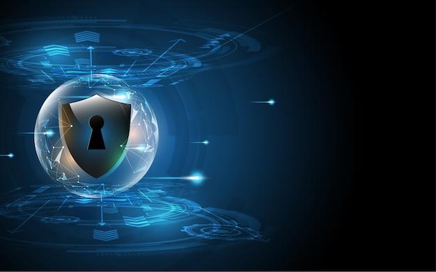 3d-beschermd beveiligingsconcept voor schermbeveiliging