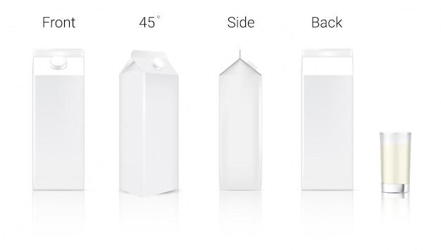 3d bespotten realistische verpakking van melkkarton