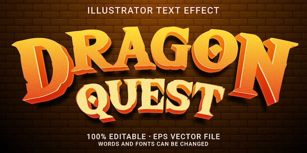 3d bewerkbaar teksteffect - dragon quest-stijl