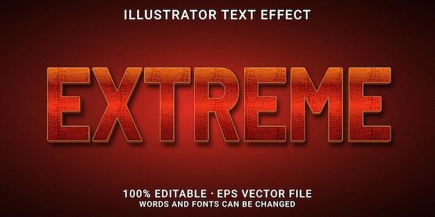 3d bewerkbaar teksteffect - extreme stijl