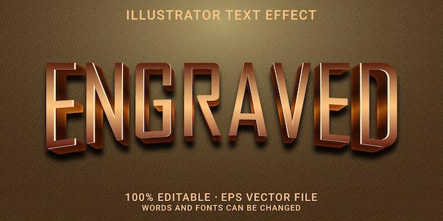 3d bewerkbaar teksteffect - gegraveerde stijl