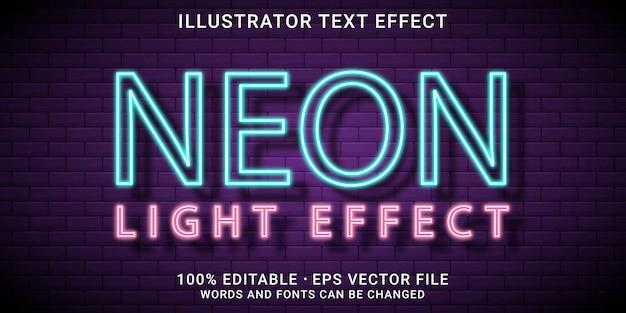 3d bewerkbaar teksteffect - neon lichteffect-stijl
