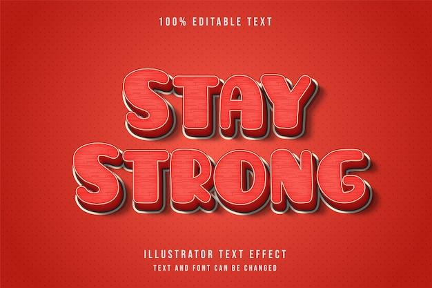 3d bewerkbaar teksteffect rode komische lijnstijl binnenpatroon