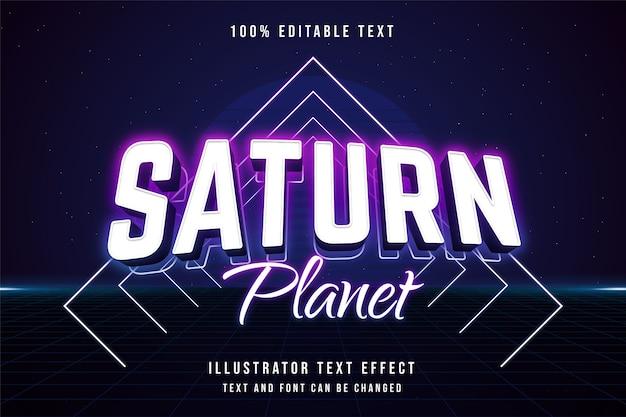 3d bewerkbaar teksteffect roze gradatie paars blauw neon tekststijl