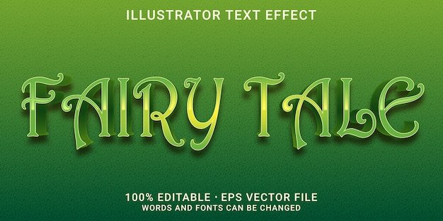 3d bewerkbaar teksteffect - sprookjesstijl