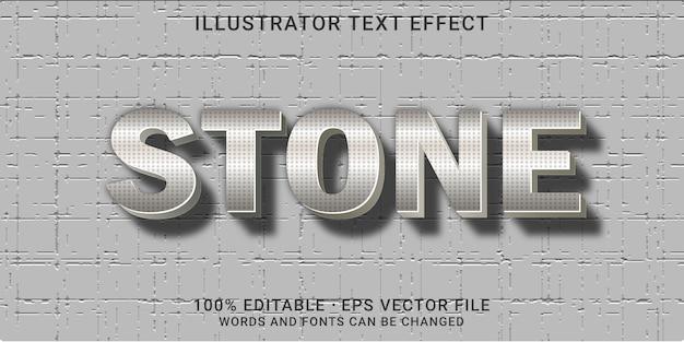 3d bewerkbaar teksteffect - steenstijl