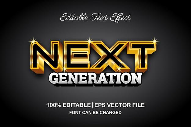 3d-bewerkbaar teksteffect van de volgende generatie