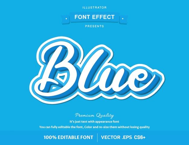 3d-blauw - eenvoudig bewerkbaar lettertype-effect