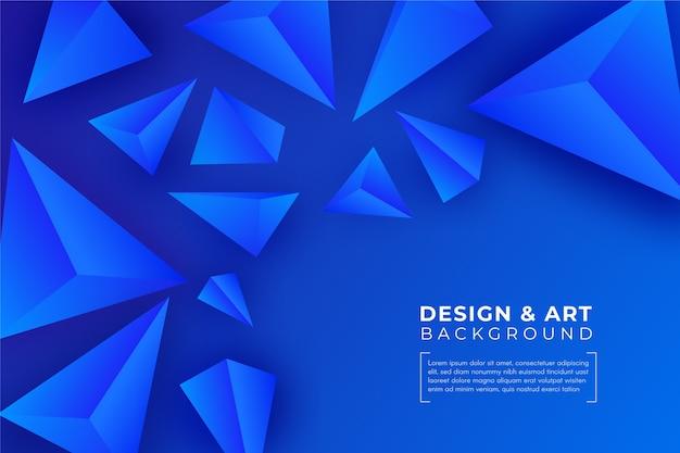 3d blauwe driehoeksachtergrond