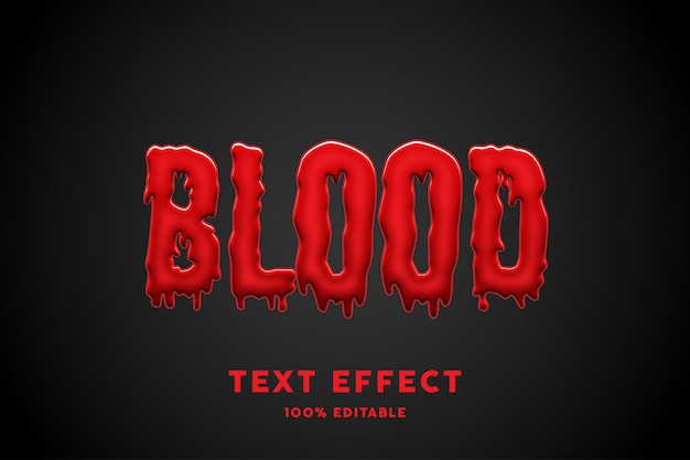 3d bloed tekst effect