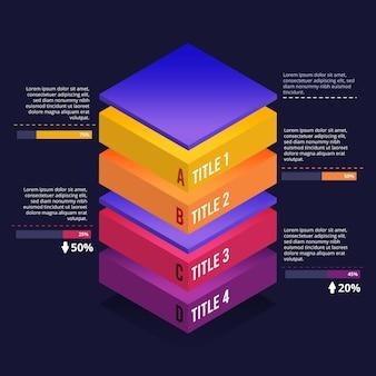 3d-blok lagen infographic