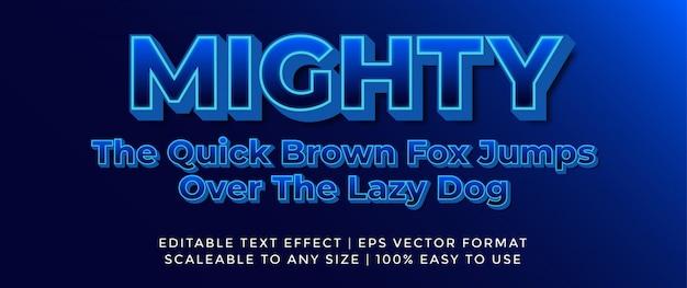 3d blue vibrant retro future font effect