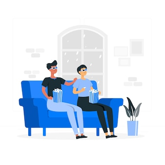 3d-bril concept illustratie