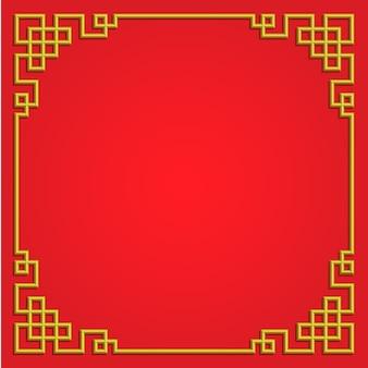3d chinese stijl van de grenskunst van het patroonkader