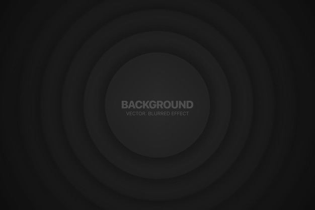 3d cirkels minimalistische zwarte abstracte achtergrond circulaire samenstelling met wazig effect