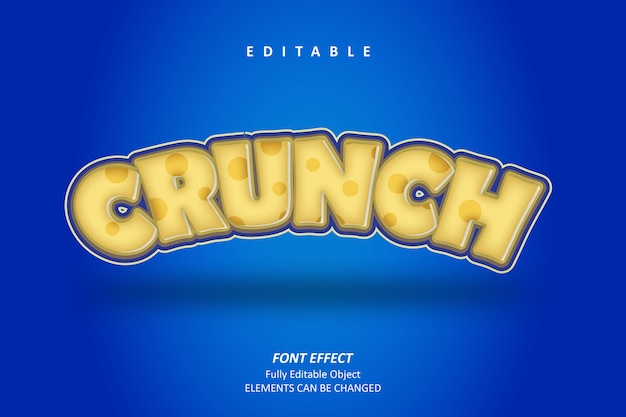 3d crunch text effect premium