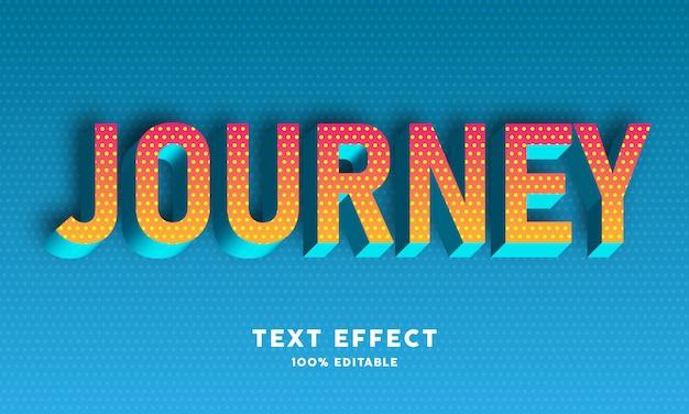 3d cyaan blauw op geel kleurverloop met stippen patroon teksteffect