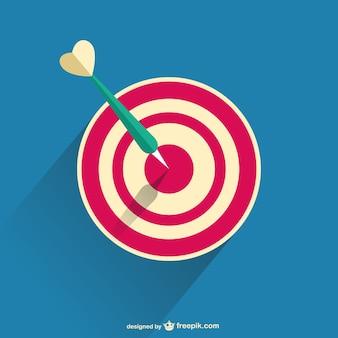 3d darts vector