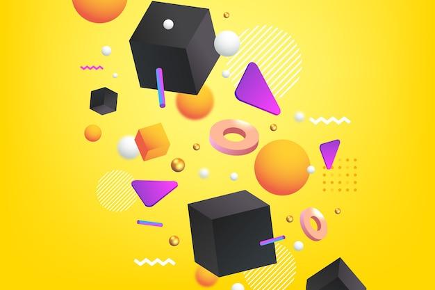 3d-decoratieve achtergrond concept