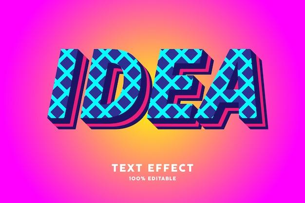 3d donkerblauw met cyaan dwarslijnen teksteffect
