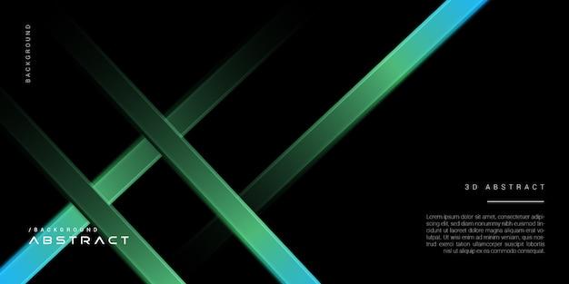 3d-donkere abstracte elegante technologie achtergrond