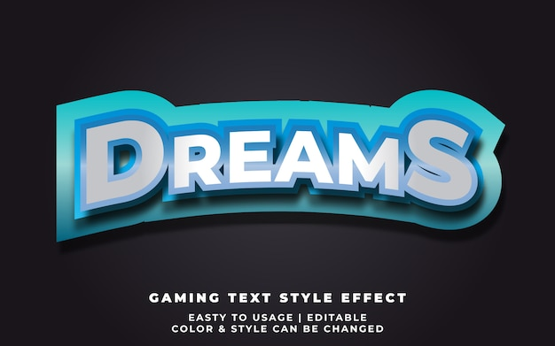 3d dreams style style effect voor e-sport team identity