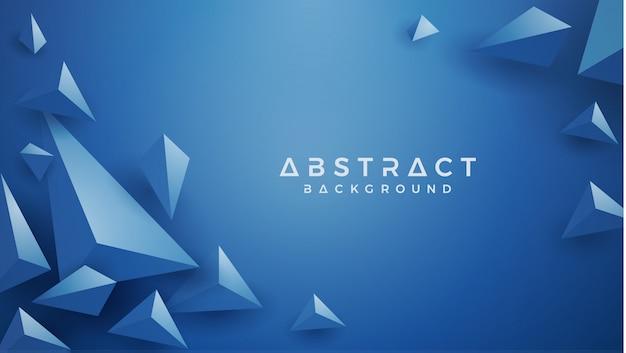 3d-driehoek klassieke blauwe achtergrond.