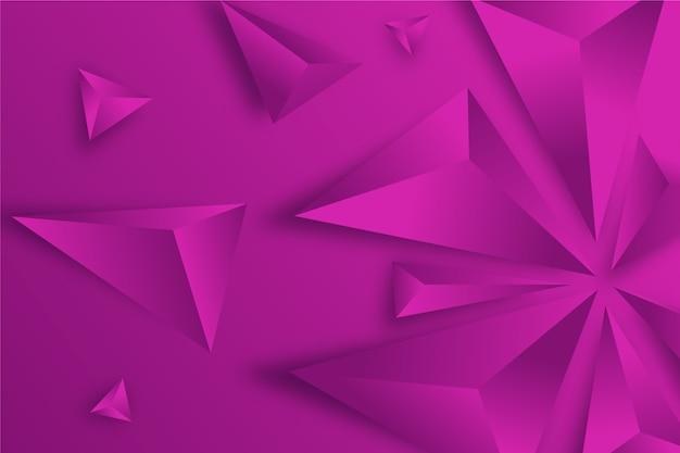 3d driehoekenconcept voor achtergronden
