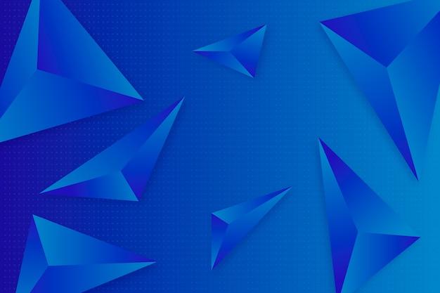 3d driehoekenstijl voor behang Gratis Vector