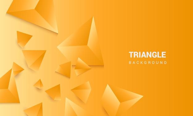 3d driehoeks oranje achtergrond