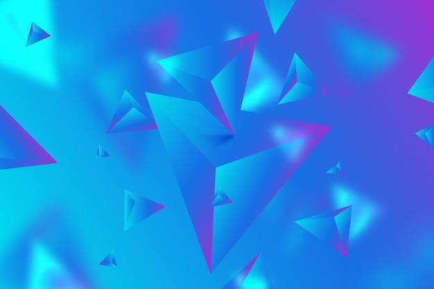 3d driehoeksachtergrond met levendige kleuren