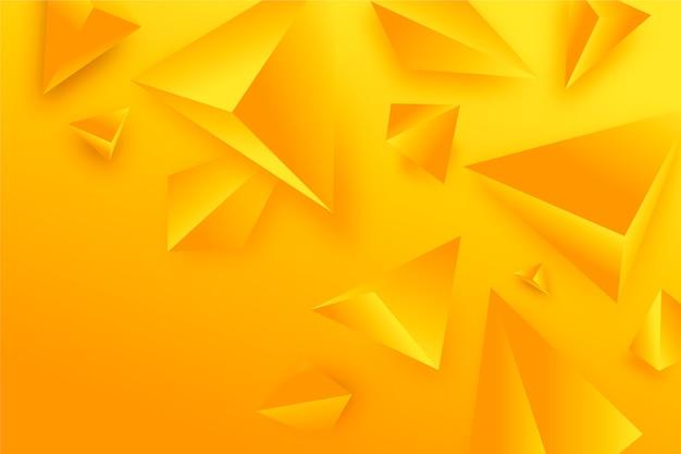 3d driehoeksbehang in levendige kleuren Gratis Vector