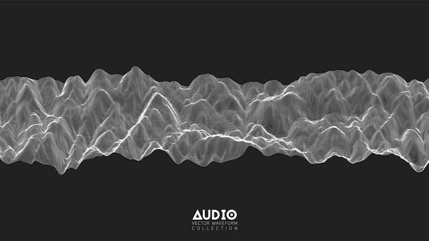 3d echo audio wavefrom spectrum.