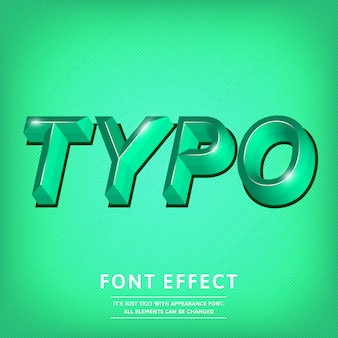 3d effect van de lettersoorttekst titel