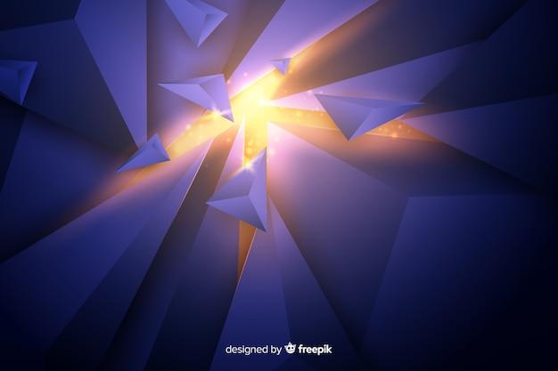 3d explosie met lichte achtergrond