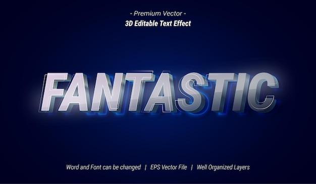 3d fantastisch bewerkbaar teksteffect