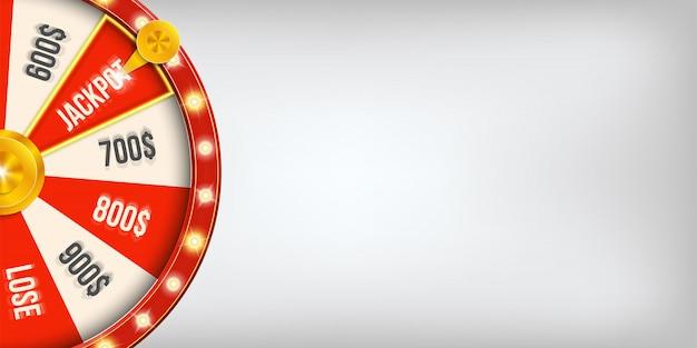 3d fortuin het gokken spinnend wiel van de casinojackpot.