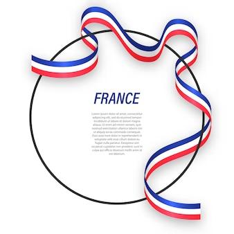 3d frankrijk met nationale vlag.