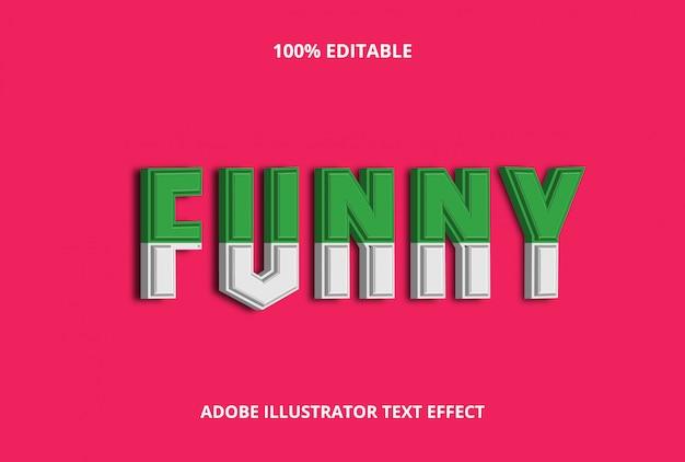 3d funny text effect premium