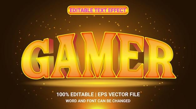 3d-gamer teksteffect