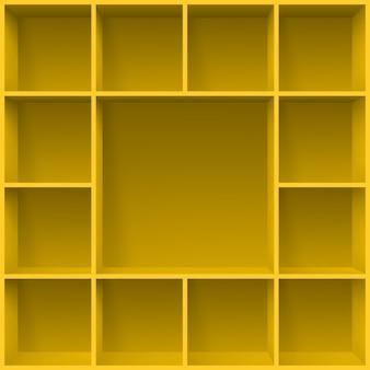 3d gele planken