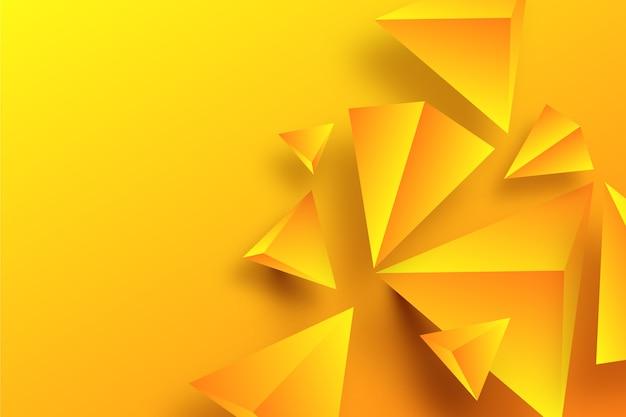 3d geometrisch vormenconcept voor behang