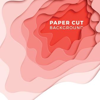 3d geometrische achtergrond met realistische papier gesneden lagen. ontwerp lay-out