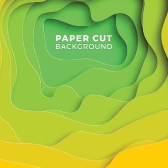 3d geometrische achtergrond met realistische papier gesneden lagen.