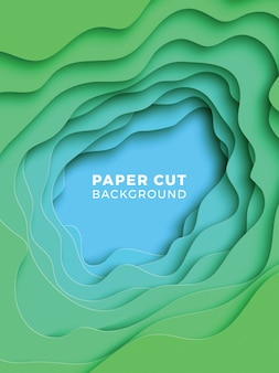 3d geometrische achtergrond met realistische papier gesneden lagen