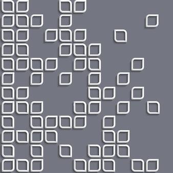 3d geometrische achtergrond met witte gestileerde vormen