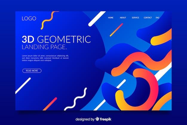 3d geometrische bestemmingspagina