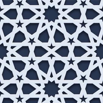 3d geometrische naadloze patroon arabische stijl
