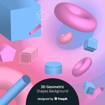 3d-geometrische vormen achtergrond