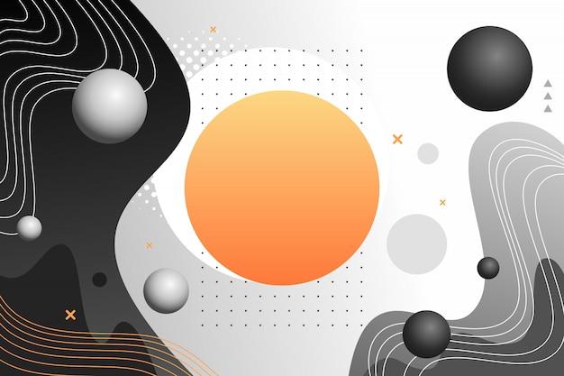 3d geometrische vormenachtergrond